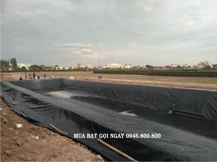 Bạt lót đáy hồ chứa nước- bạt nhựa chống thấm HDPE