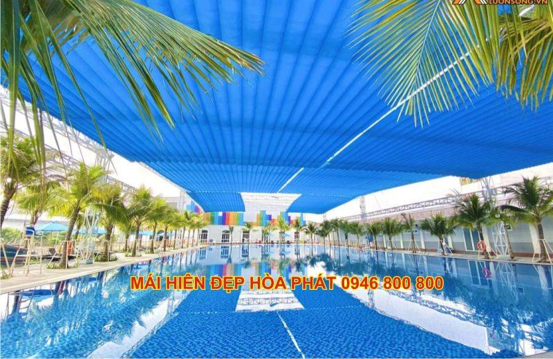 Mái che bể bơi ngoài trời tại Hải Dương, Hưng Yên
