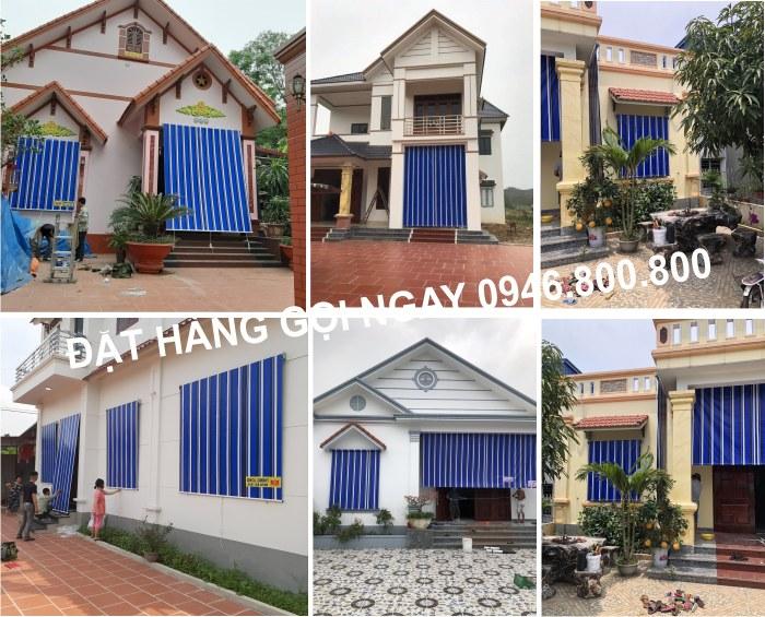 Bạt che nắng mưa tự cuốn cửa sổ hiên nhà tại Hải Dương, Hưng Yên